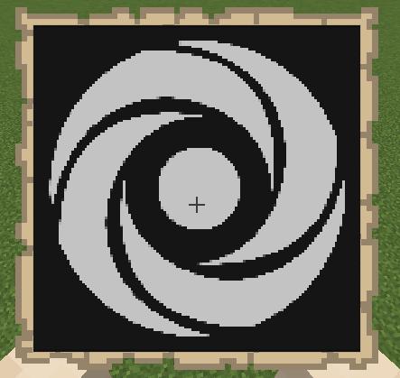 Repl.it logo in minecraft